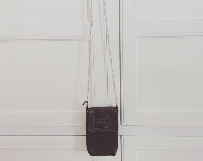 Small Handmade Leather Cell Phone Purse/ Small Leather Cross body.