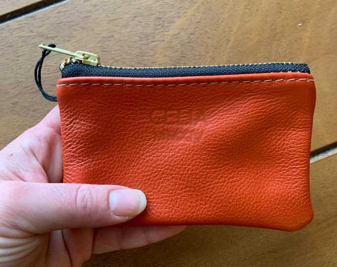 Leather card case / coin pouch / zipper pouch/ wallet