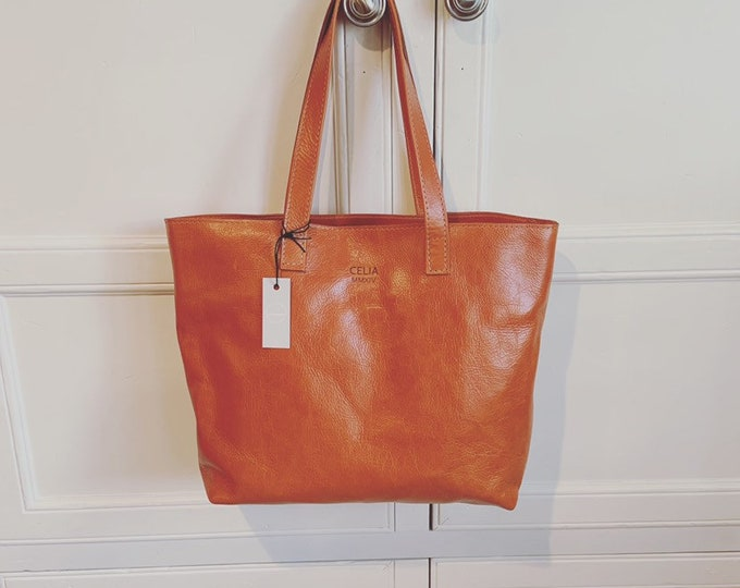 Leather tote/leather purse/leather market tote