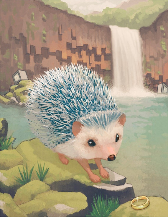 The Hedgehog Limited Edition Art Print Inspired By Sonic The Hedgehog