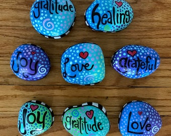 hand painted rocks etsy