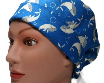 Killer Whale Theme Scrub Hat