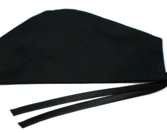 buy online 192c4 fda4b ... reduced special order for dorothy surgical scrub hat handmade of black  solid fabric w duke patch