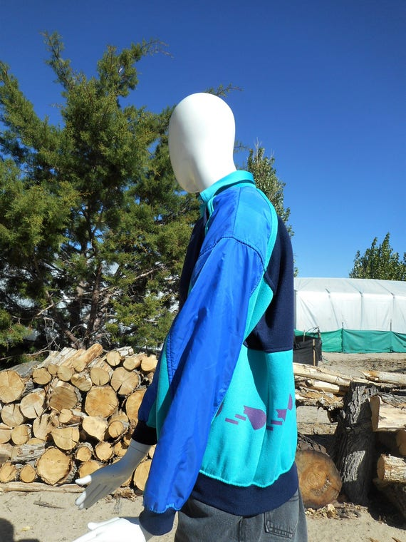 80's Vintage Retro Blue Skiwear Sweatshirt (Unise… - image 2