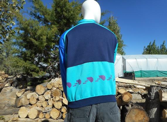 80's Vintage Retro Blue Skiwear Sweatshirt (Unise… - image 1