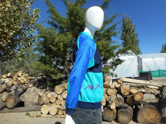 80's Vintage Retro Blue Skiwear Sweatshirt (Unise… - image 5