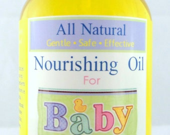All Natural Baby Oil | Organic Baby Massage Oil | Diaper Bag | Baby Shower Gift | Baby Bath Oil | Natural Baby Skincare