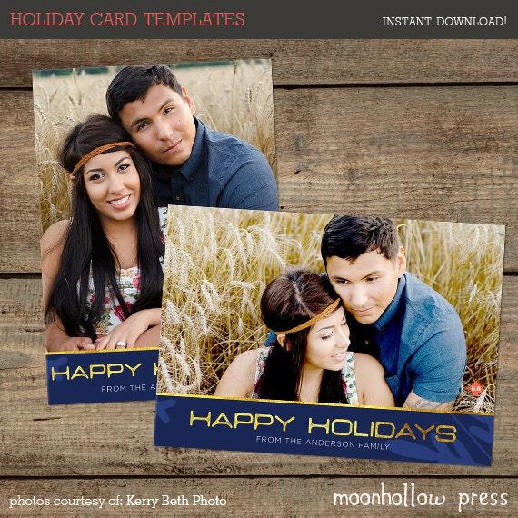 Christmas Card Template 001 Photographers Christmas Etsy