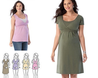 def41339aac Simplicity 1469 Sewing Pattern Misses Maternity and Nursing Knit Top or  Dress sz XS-XL Uncut