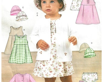 d3d51486c95c Butterick 3782 Sewing Pattern Infants Easy Jacket Dress Panties and Hat sz  S thru XL Uncut
