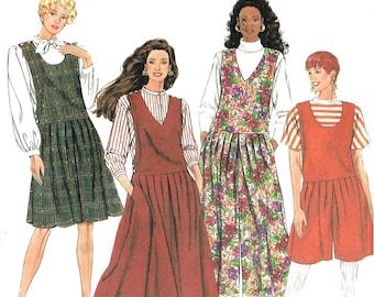 2da52a217c726 Simplicity 7434 Sewing Pattern Misses Jumper and Culotte-Jumper Each in Two  Lengths sz 10 Thru 18 Uncut