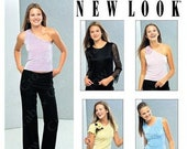 New Look 6137 Sewing Pattern Juniors Easy Set of Knit Tops and Contour Waist Pants sz 3 4-13-14 Uncut