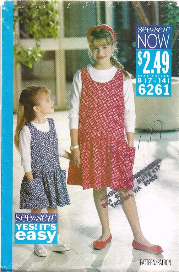 Easy OOP BUTTERICK 3337 Girls Dress /& Jumpsuit PATTERN 7-8-10//12-14 UC