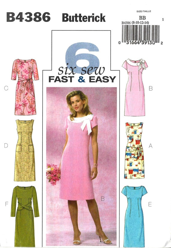 Butterick B60 Sewing Pattern For Misses Fast And Easy Dress Etsy Delectable Easy Dress Sewing Patterns