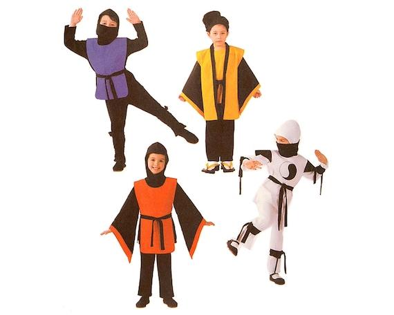 Butterick B4258 Sewing Pattern Childu0027s Ninja Warrior Halloween Costume sz 6 thru 8 Boy or Girl Tunic Hood Vest Pants Tabbard Uncut from CrabandCrow on Etsy ...  sc 1 st  Etsy & Butterick B4258 Sewing Pattern Childu0027s Ninja Warrior Halloween ...