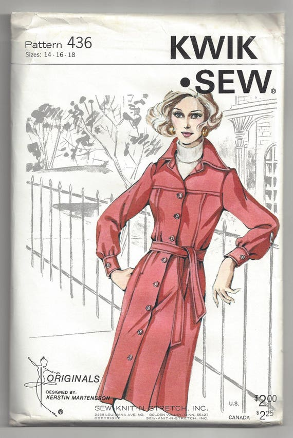 Kwik Sew 436 Sewing Pattern Misses Slightly A Line Knit Shirt