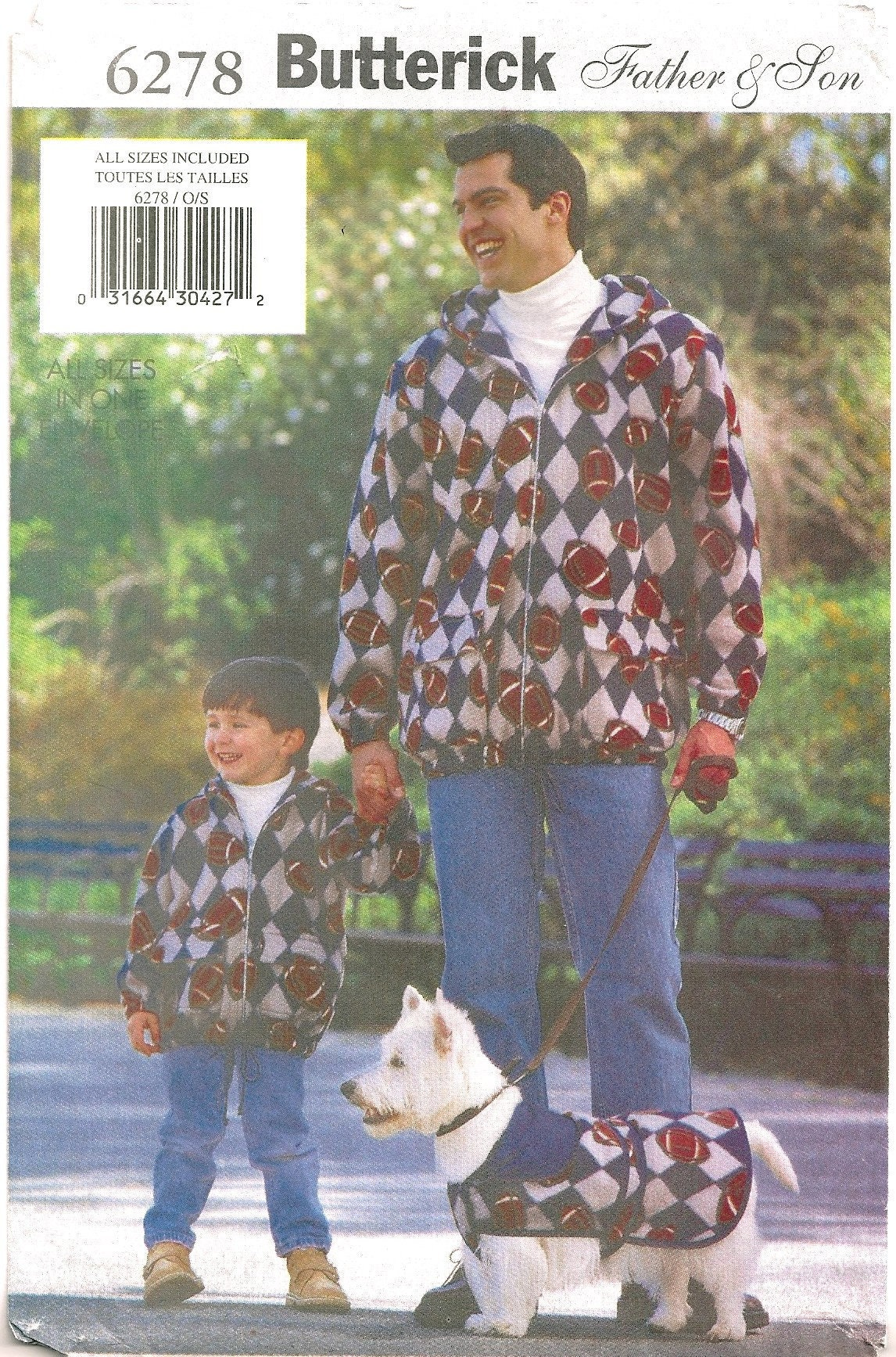 8bd084704ae Butterick 6278 Sewing Pattern for Father   Son Matching
