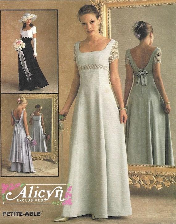 Mccalls 9126 Sewing Pattern Misses Empire Waist Bridal Dress Etsy