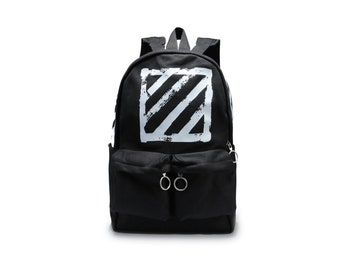 info for fbcf3 fdedc Off-White style Canvas Brushed Diagonals Backpack