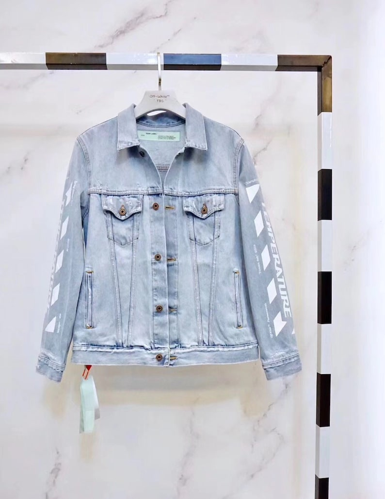 546d33395942 Off-white style TEMPERATURE Denim Jacket