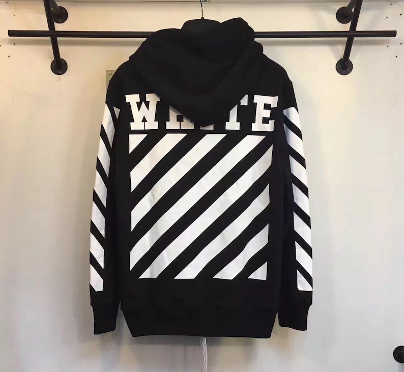 43e3ab375f4d Off-white style Classic Strips Sweatshirt Hoodie in Black