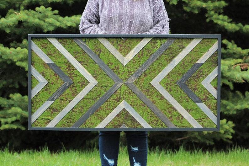 Outdoor Moss Art Porch Decor Patio Accent Yard Decoration Etsy