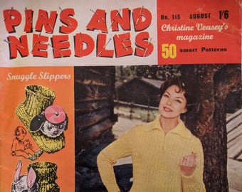 Pins and Needles No 115 August 1962 Vintage Crafting and Homeware Magazine