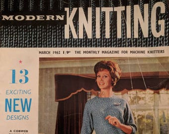 f24a51eeb10 Original Modern Knitting - The Monthly Magazine for Machine Knitters March  1962
