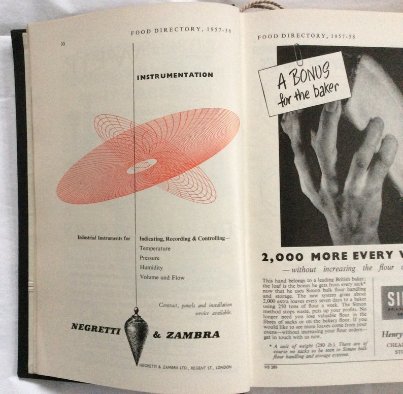 Food Directory 1957-8 of Food Manufacturers Commodities Brands Food Law  Food History