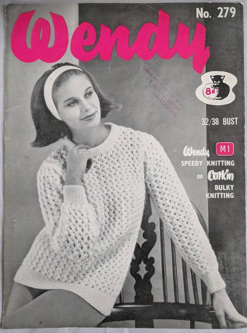 1c26ec199 Original Vintage Wendy Knitting Pattern Ladies   Teens Jumper