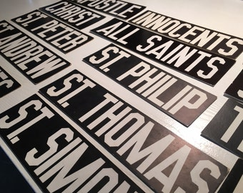 American Vintage Church Board Black & White thick-paper words, letters for menu board