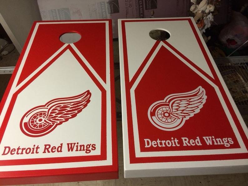 Detroit Red Wings Cornhole Boards