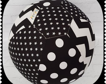 Balloon Ball Cover Fabric Handmade Ball Sensory Play Special Needs Chevron Stars Toys, Hobbies