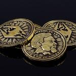 Septim Coin LARP coin Dragon Empire Fantasy RPG Item Jewelry gift geek Gamer jewelry Handmade