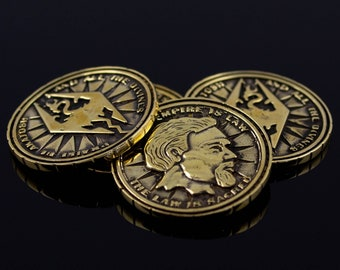 Silver Septim Coin LARP Handmade Item Jewelry Gift Geek | Etsy