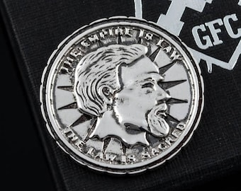 Silver Septim Coin LARP Handmade Item Jewelry Gift Geek Fantasy RPG