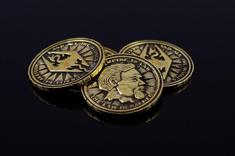 Septim Coin LARP coin Dragon Empire Fantasy RPG Item Jewelry image 0