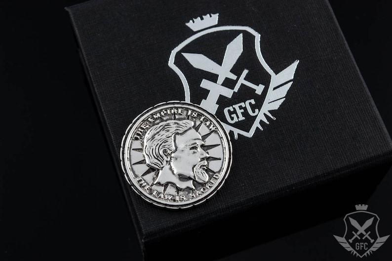 Silver Septim Coin LARP Handmade Item Jewelry Gift Geek image 0