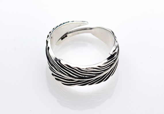 Feathers Ring Bird Ring Ring with Feathers Handmade Sterling Silver Bird Ring Unique Handcrafted Jewelry Feathers Ring Feathers Jewelry