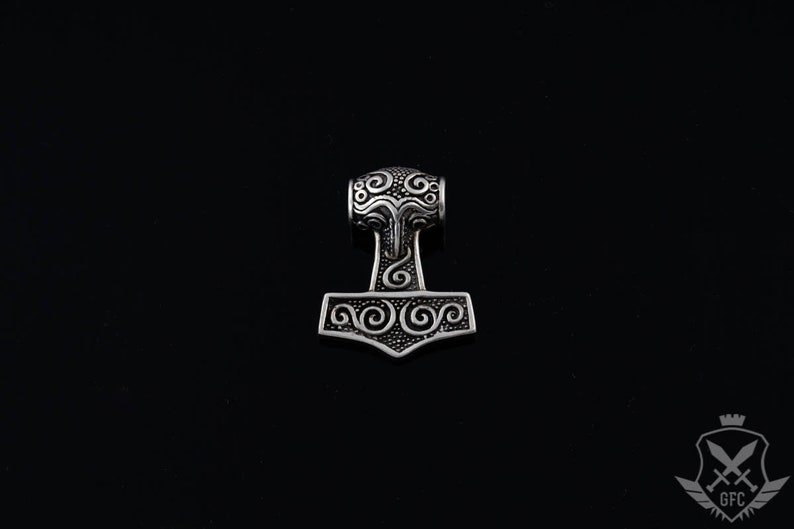 ethnic jewelry Norsemen Mjolnir Scandinavian Odin Sterling Silver Amulet Handmade Valhalla Pendant Thor/'s Hammer Loki Vikings