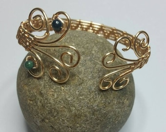 Gold Plated Copper Wire Bracelet