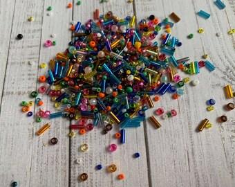 jewelry supplies Qty 9 grams 60 Seed Beads TOHO Seed Beads 3.5mm Beads Burnt Orange,Metallic Blue,Ruby 135 beads,Peridot approx