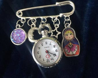 Dazzled And Charmed Kilt Pin Fob Watches