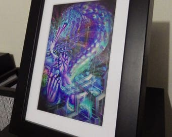 """Photo Paper Print """"Ride the Quetzalcoatl"""" (frame in option)"""