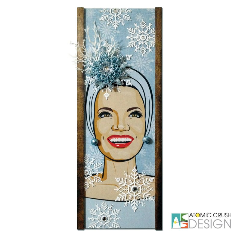 0f9349ecd4 Carmen Miranda Winter Wonderland. OOAK Mid century inspired | Etsy