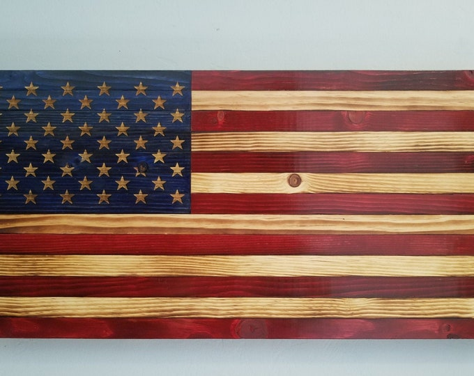 Wooden American Flag Wall Art Heritage