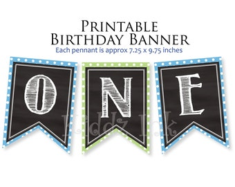"""1st Birthday """"ONE"""" Banner 