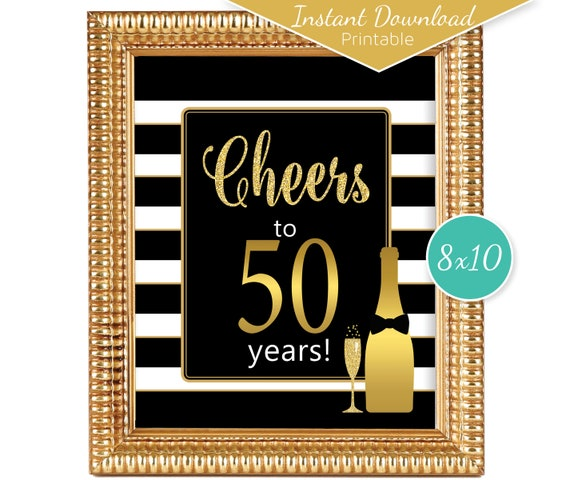 DIGITAL DOWNLOAD 40th birthday frame black and gold Birthday photo prop frame Birthday decorations string lights Cheers to 40 years banner