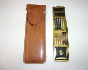 Arithma addiator leather case made in Germany