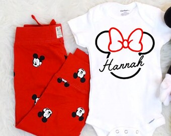 17ec5231e Personalized Disney Onesie. Personalized Baby Onesie. Disney Baby Clothes.  Disney Baby Onesie. Minnie Mouse Onesie. Baby Disney Outfit.